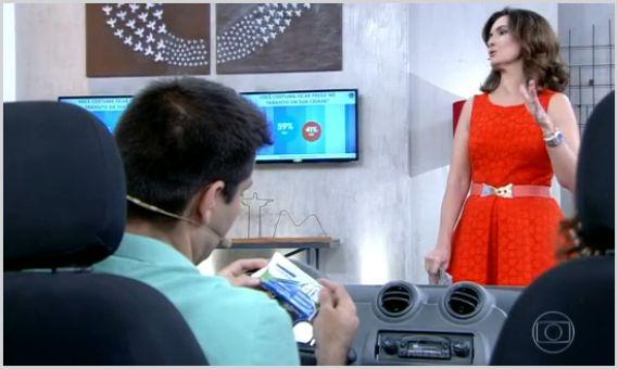 Programa Encontro com Fátima Bernardes mostra a importância do Toalet Descartável no trânsito.